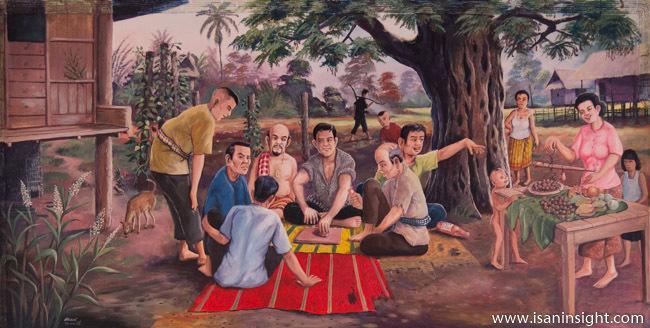 พระมหาธาตุแก่นนคร วัดหนองแวง ขอนแก่น จิตรกรรมฝาผนัง ประวัติศาสตร์