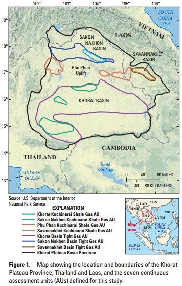 แผ่นเปลือกโลกอินโดจีน ที่ราบสูงโคราช พื้นที่ภาคอีสาน ภูมิศาสตร์ ภาคตะวันออกเฉียงเหนือ