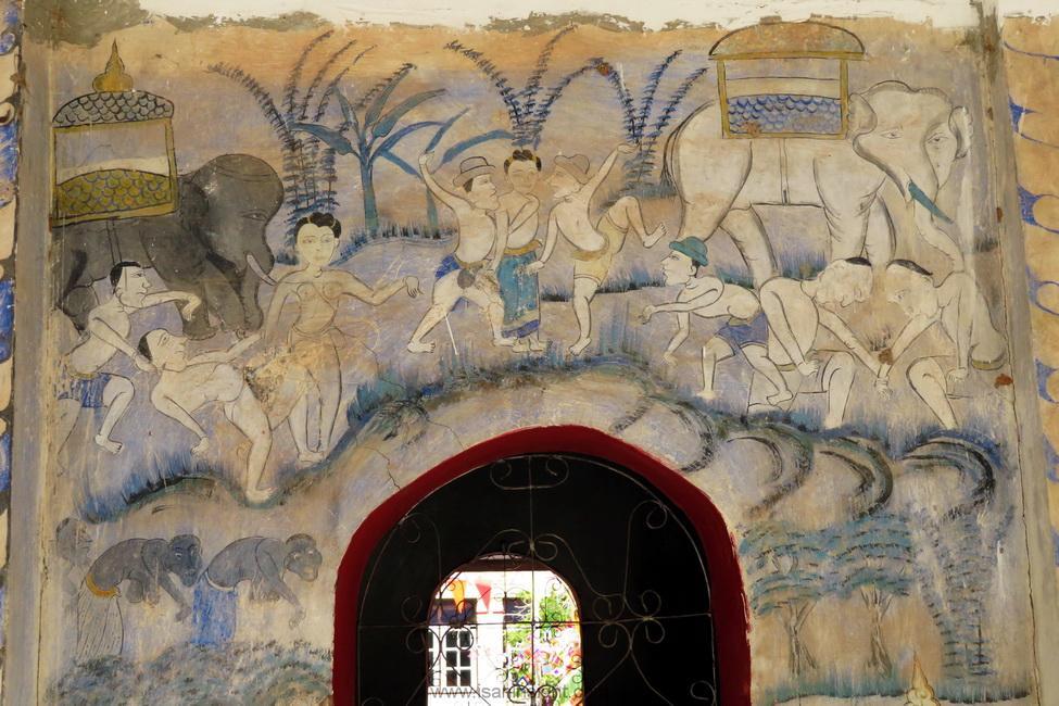 วัฒนธรรมอีสาน บุญผะเหวด บุญพระเวส พระเวสสันดร วัดบ้านลาน วัดมัชฌิมวิทยาราม บ้านลาน ขอนแก่น